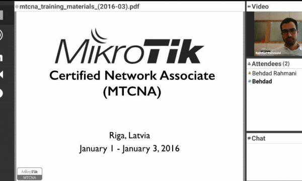 ورکشاپ مجازی IPv6 و امنیت وایرلس میکروتیک